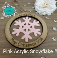 Personalised First Christmas Bauble Decoration 1st Christmas babys 1st Christmas