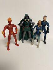 Marvel Legends Lot Mr Fantastic Invisible Woman Human Torch Dr Doom