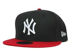 New York Yankees New Era Black / Red Fitted Hat 59FIFTY MLB