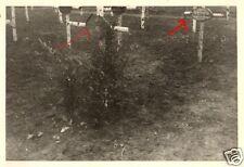 16456/ 2 Originalfoto 7x10cm, Soldatengrab Leutn. Berger, JR 32 Tortolowo, 1942