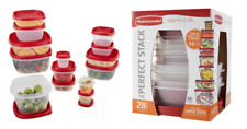 Rubbermaid 28 Piece Plastic Food Storage Container Set Brand New Christmas