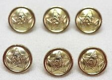 Russian Soviet Union Gold colored Shirt buttons 15 mm 23L lot of 6 B130