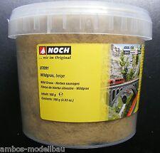 (11,95€/100g) NOCH 07091 Wildgras beige, 6 mm, 100 g Dose, Neu