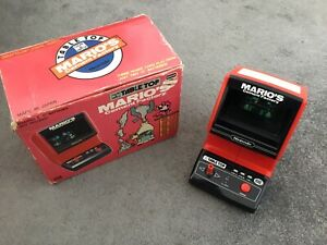 Nintendo TableTop Game and Watch Marios Cement Factory Vintage 1983 Game Boxed