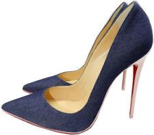 e432bdfe44d3 Christian Louboutin So Kate Pointy Toe 120 Pump Shoe Denim Blue Pompadour 36