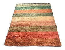 Rectangle 90% Hemp &10% Cotton Rug 4x6 Feet Shaggy Flat Woven Rug