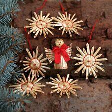 Baumschmuck Strohsterne + Engel Baumbehang - Deko aus Stroh für Weihnachten
