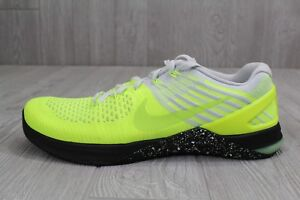 62 New Nike Metcon DSX Flyknit Volt Black Training Shoes Sz 11 852930 701