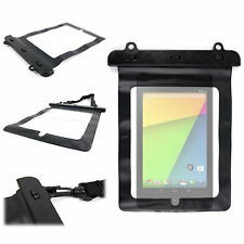 Black Waterproof Bag For Asus Google Nexus 7 Tablet w/ Extra Strong Carry Strap