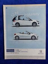 PEUGEOT 207 CC/308 CC-visualizzazione pubblicitario pubblicità con loghi advertisement 2012 __ (226