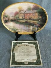 Thomas Kinkade's Lamplight Village LAMPLIGHT INN Bradford Exchange PLATE#3;2962C