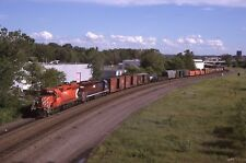 N: Orig Slide CP Rail Canadian Pacific SD40-2 #5824+1 w/Train - St Paul MN 1997