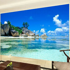 3D Mural Wallpaper Non-Woven Bedroom Livig Room Ocean Sea Beach Home Decor