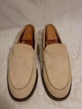 Men's Samsonite Beige Suede Loafer, Black Label, Size 6 M, Italy