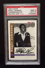 1992-93 NBA HOOPS MAGIC JOHNSON ROOKIE YEAR 1979 COMM AUTO SKYBOX STAMP NNO AU