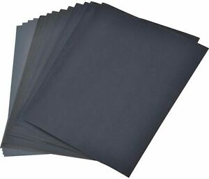 8 Pack Assorted Sand Paper Sheets Fine Medium Home Coarse Wet Dry Use Sandpaper