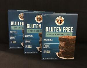 3 Boxes King Arthur Flour Gluten Free Fudge Brownie Mix, Non-GMO, Non Dairy (3F)