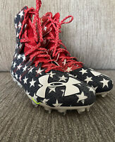 Under Armour Highlight MC LE USA Red White Blue Stars Football Cleats Mens 10.5