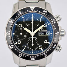 Auth Sinn 103.B sa Chronograph Day & Date Automatic Stainless Men's Watch E#7848