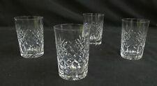 More details for vintage cut lead crystal whisky/juice glases set of 4       sh22