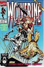 Wolverine 45 (MARVEL 1988) SABRETOOTH. NEAR MINT + 9.6!!