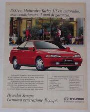 Advert Pubblicità 1993 HYUNDAI SCOUPE