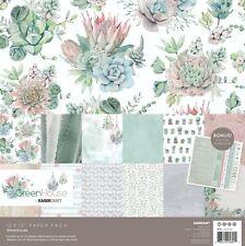 KAISERCRAFT Scrapbooking Paper Pack + Sticker Sheet Greenhouse succulents Rose