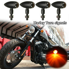 4 x Motorcycle Bullet Turn Signal Indicator Light For Harley Bobber Cafe Racer