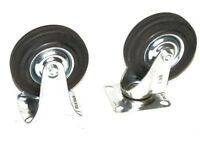 "4PCS 4""  CASTER WHEELS 2 SWIVEL 2 FIXED BASE AND WHEEL WITH BEARING RUBBER TIRES"