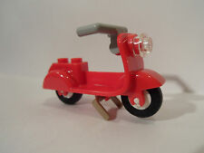 Lego Town/ City  Bright Red Scooter  - New - Motor bike