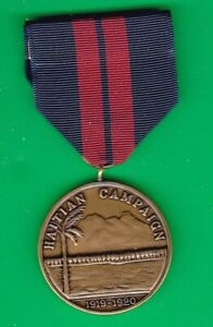 US HAITIAN CAMPAIGN MARINE CORPS MEDAL