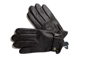 Polo Ralph Lauren Leather Gloves Brown Leather Touch Compatible