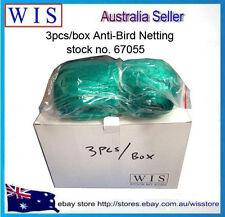 PK of 3 Diamond Green Anti Bird Net,PE Extruded Anti Bird 4m x20m per Roll-67055