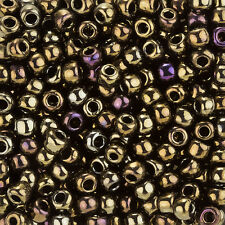 Toho Size 3/0 (5.5mm) Round Seed Beads Metallic Iris Brown 19.5g Tube (L96/3)