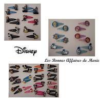 DISNEY - Lot de 2 barrettes La Reine des Neiges, Mickey, Minnie, Princess - Neuf