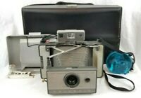 Vintage Polaroid Automatic 103 Folding Land Camera W/ Case, Manual, and Flash!!