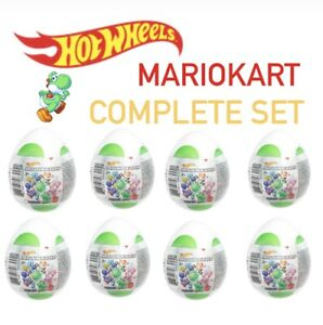Hot Wheels Nintendo Mario Kart COMPLETE SET of 8 Yoshi Mystery Eggs NEW Colors