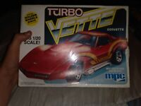 MPC Turbo Corvette 1:20 Model Kit Factory Sealed From 1979
