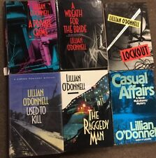 Lot Of 6 Lillian O'Donnell Mystery Hardcovers