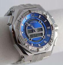 Renato Men's Mostro Ana-Digi Watch, World Time, Swiss ISA 9003 Ltd. Ed, Handmade