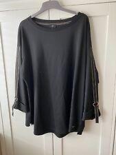 BNWT River Island Plus Black Sweatshirt Top - Size 24