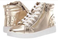 Michael Kors Kids Jem Taliyah Metallic Sneakers Little Girl's Size 1 Gold NEW