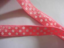 "10y Polka Dots FOE 5/8"" Elastic-Coral L015"