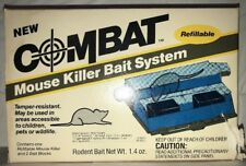 NOS Combat Mouse Killer Bait Station Refillable Tamper-Resistant