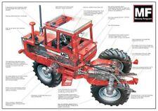 Vintage Massey Ferguson Tractor 1250 CUTAWAY SALES BROCHURE/POSTER ADVERT A3