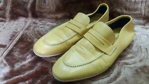 vintage Moreschi Men's Shoes Mustard color made in ltaly 10 us 11