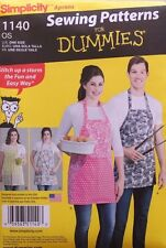 APRON Simplicity Pattern for Beginners 1140 NEW One Size Misses/Mens