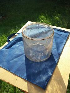 Vintage Perfection Kerosene Heater Pyrex Glass Globe Flame ♨️ Embossed