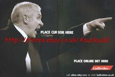 "Ladbrokes ""Place Cursor Here Place Online Bet Here"" 2001 Magazine Advert #2062"