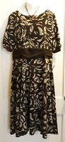 Brown Dress w/Top Lining by Chelsea Suite - Size 16